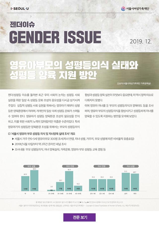 영유아부모의 성평등의식 실태와 성평등 양육 지원 방안
